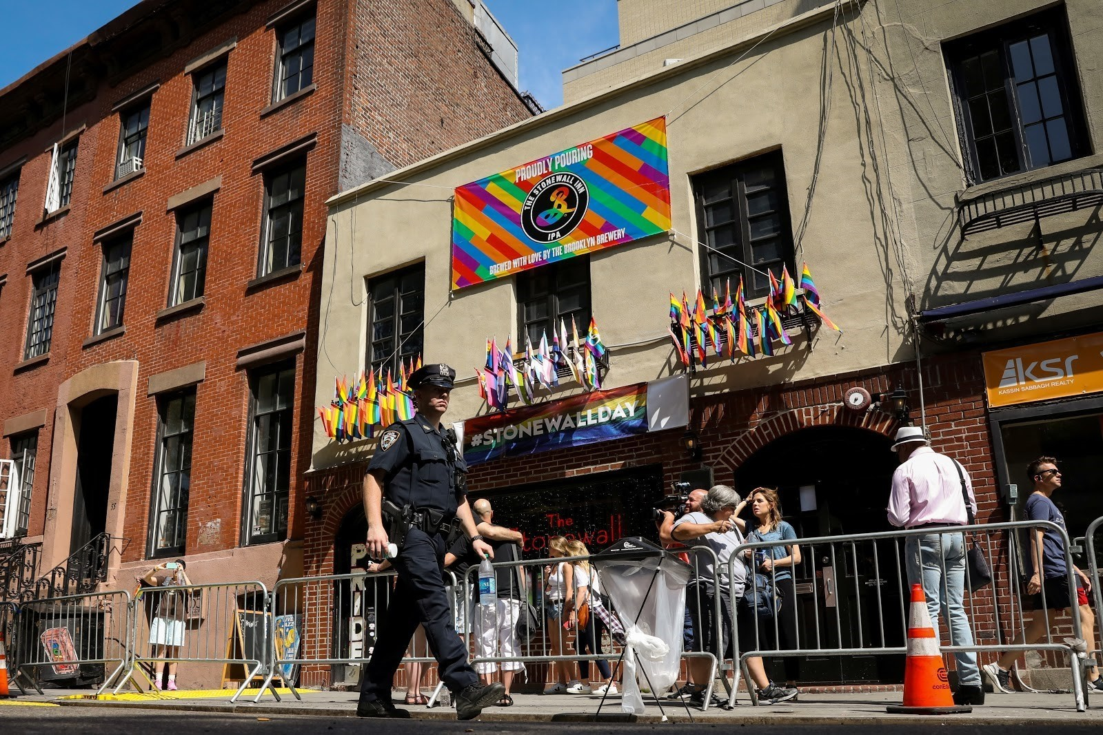 The 50th anniversary was marked in New York by Stonewall Day