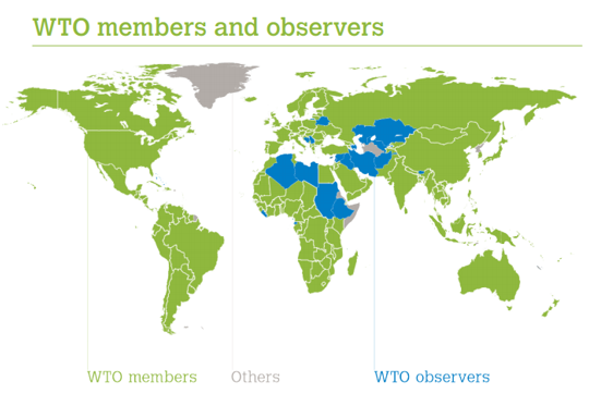 WTO members and observers