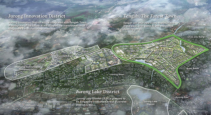 image of the plan for Singapore's new eco town.