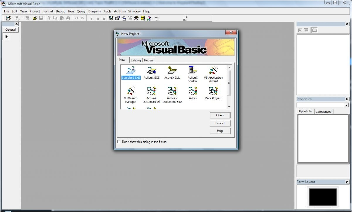 Microsoft Visual Studio6 running on Windows Vista.