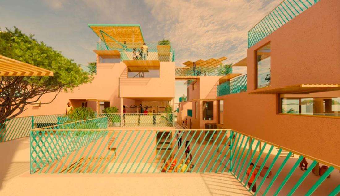 Contaminación plástica reciclaje viviendas viviendas asequibles