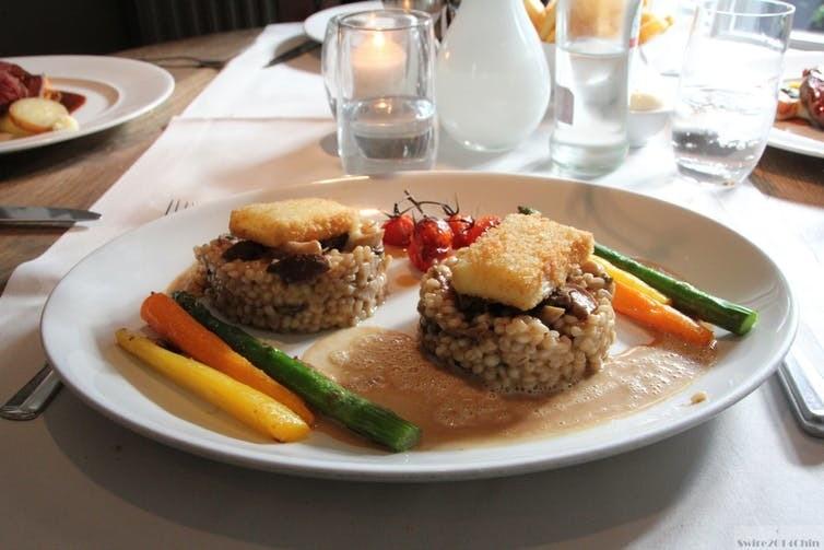 A vegetarian meal.