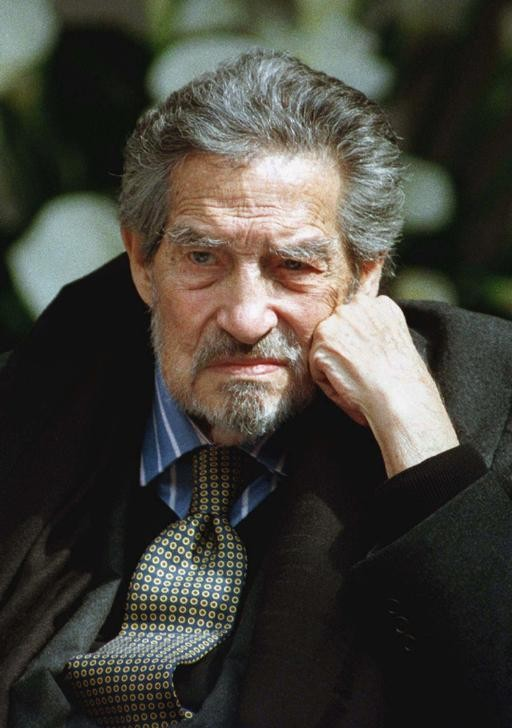 Mexico's Nobel Literature Laureate poet and writer Octavio Paz is seen in this December 1997 file photo attending the opening of a foundation dedicated to his vast life's work.