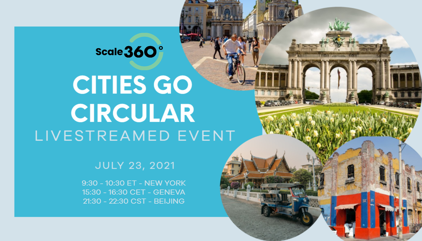 Cities Go Circular: This July 23 event hosted by the World Economic Forum will reveal how young leaders in cities such as Turin, Bangkok, Brussels and Mexico City are making their cities more circular and bringing about grassroots change. Click the photo to be driven to the event page.
