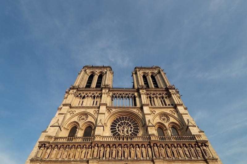 A view shows the Notre Dame Cathedral in Paris, France, August 28, 2017. Officials at the 854-year old Notre-Dame cathedral, France's most-visited monument, say it is in urgent need of raising 100 million euros ($120.40 million) to repair everything from damaged arches and statutes to broken down gargoyles.  REUTERS/Philippe Wojazer - RC1D4E0B1840