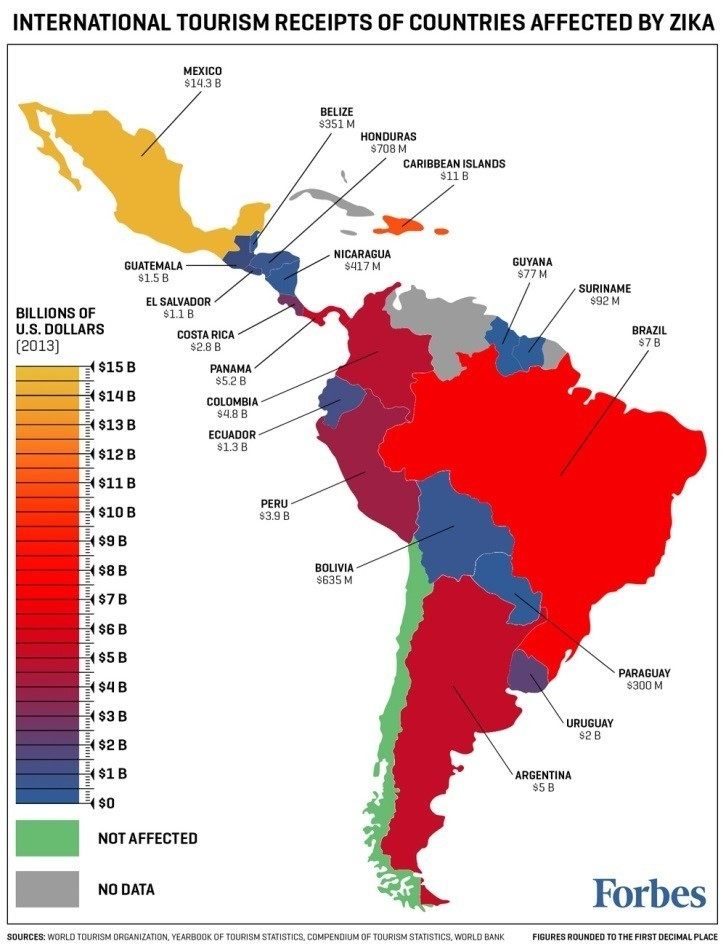 What Does The Zika Virus Mean For Travel World Economic Forum - Argentina zika map