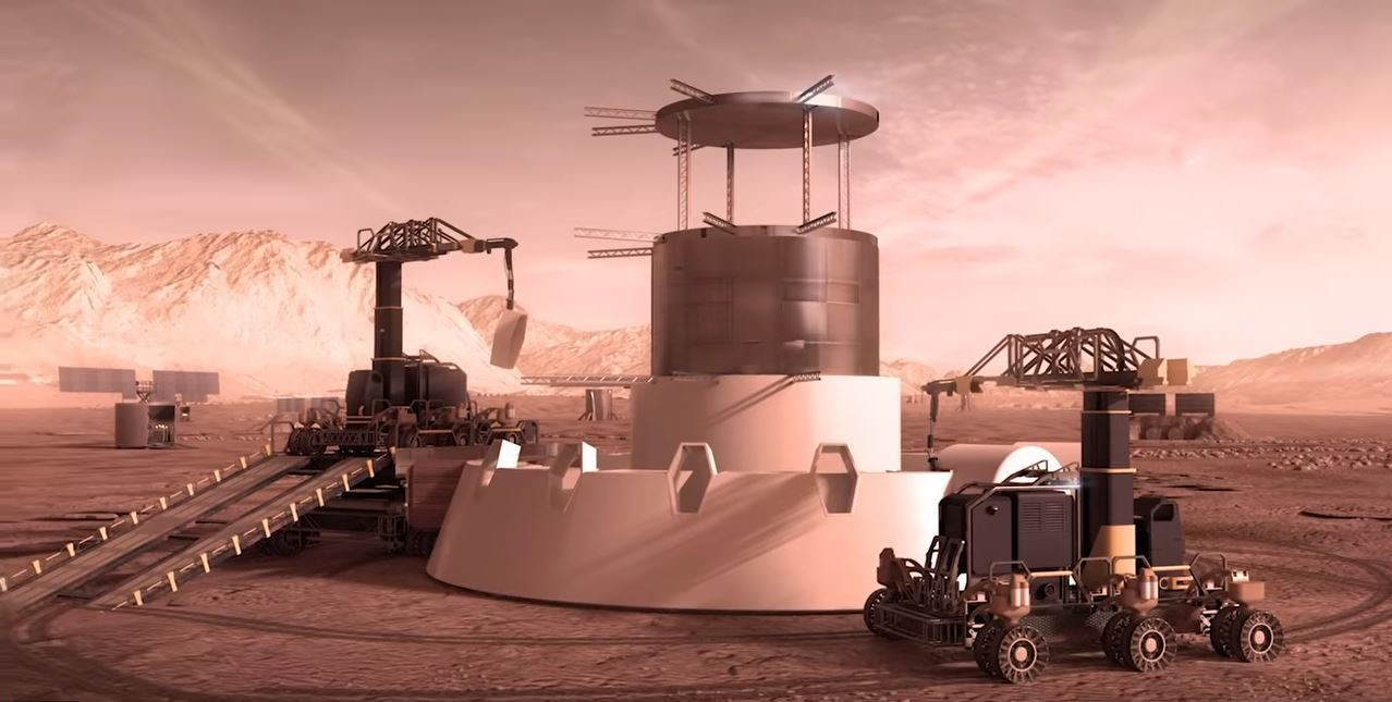 The Martian home will be built around a reusable spacecraft