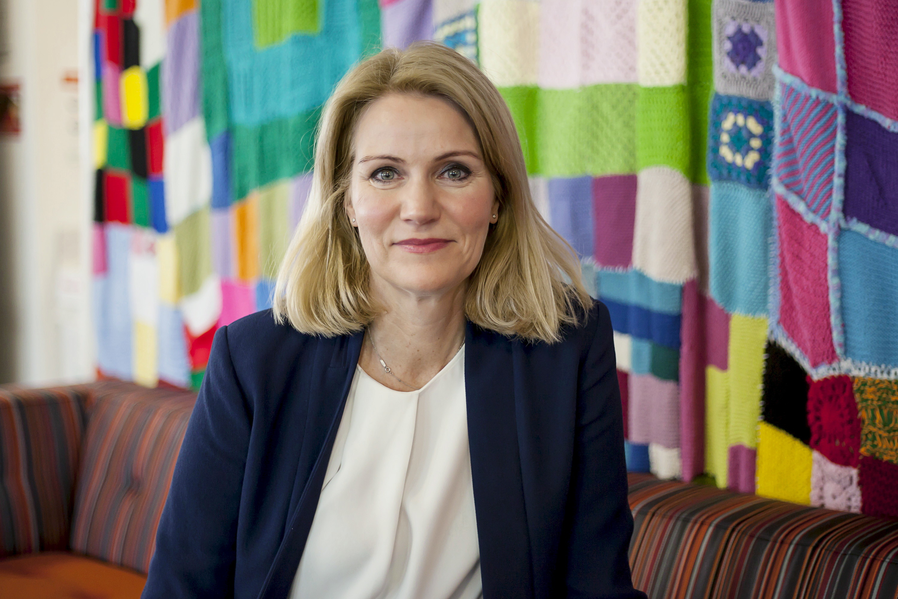 Helle Thorning-Schmidt, newly appointed CEO of Save the Children International, poses for a portrait at the office of the children's charity in central London, April 21, 2016.  Thomson Reuters Foundation/Shanshan Chen  - RTX2BMI7