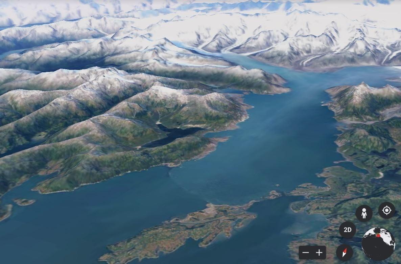 image of columbia Glacier, Prince William Sound, Alaska in 2020