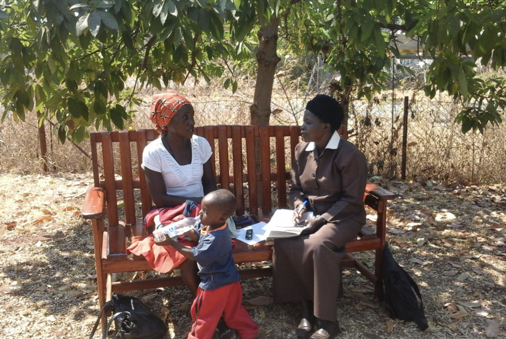 A Zimbabwean Friendship Bench, a vital measure in a country where more than 70% live below the poverty line.