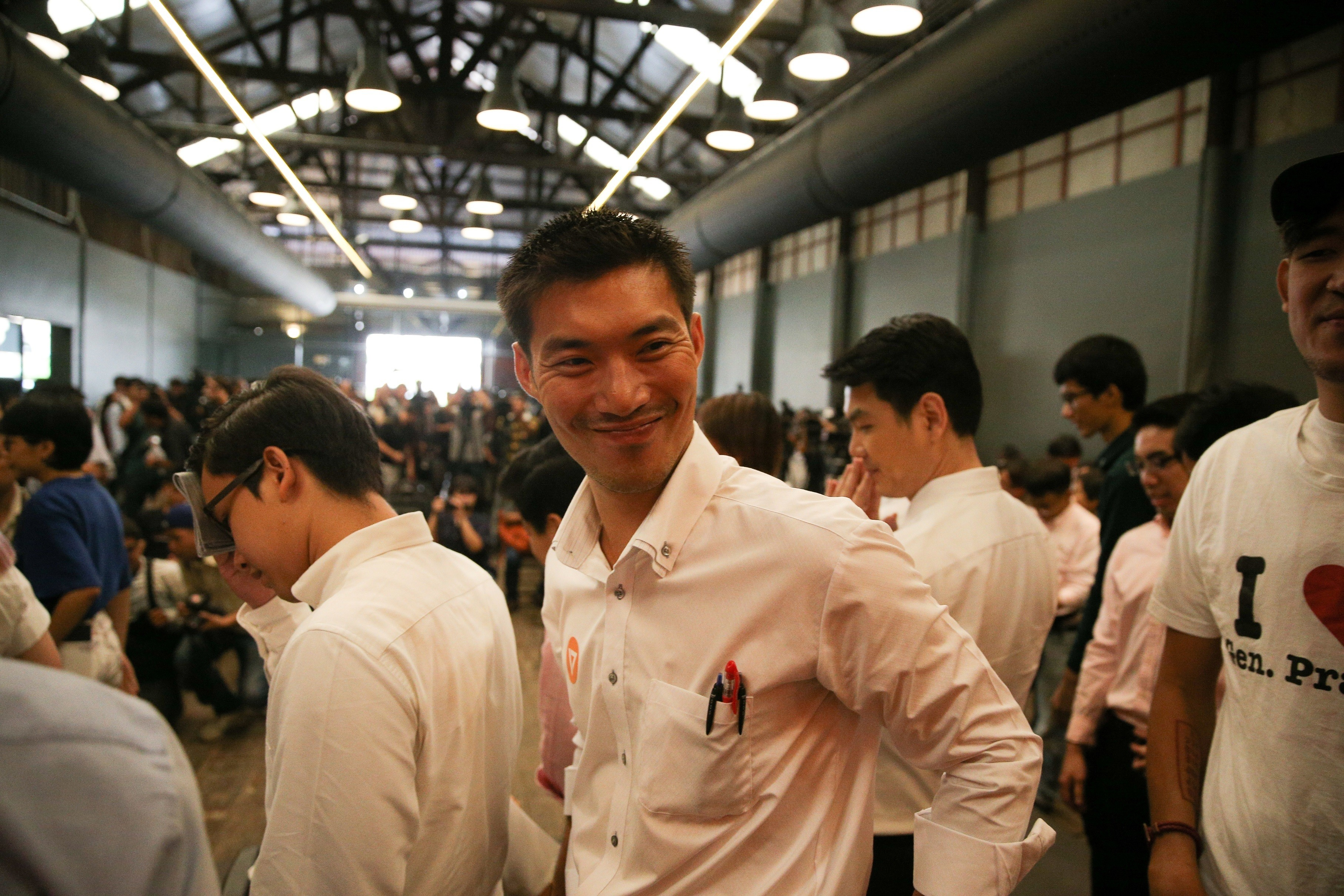 Thanathorn Juangroongruangkit, the founder of Thailand's Future Forward Party, smiles during the launch of the party in Bangkok, Thailand, March 15, 2018. REUTERS/Athit Perawongmetha - RC1683FA5690