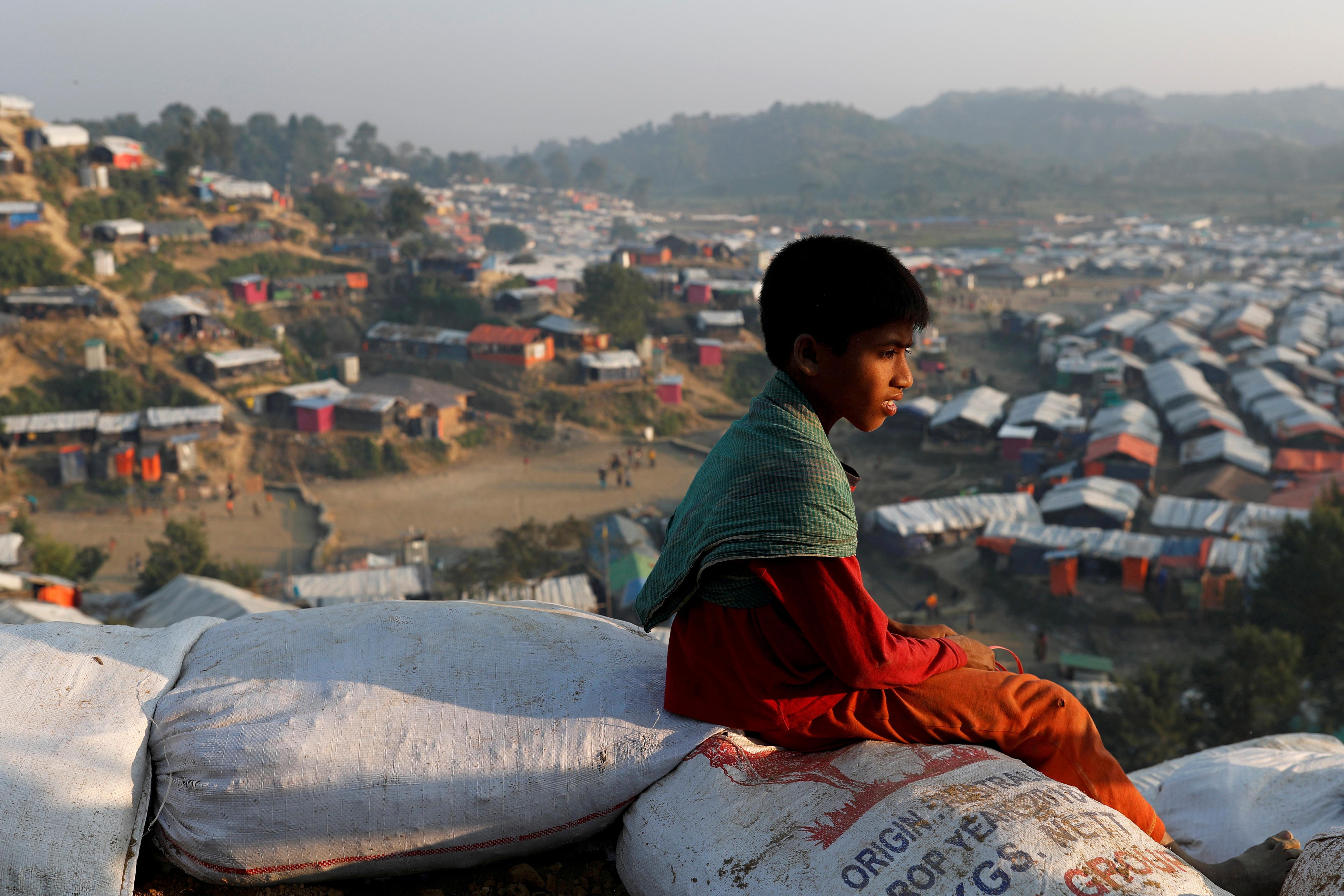 A Rohingya child at Unchiparang refugee camp, Bangladesh