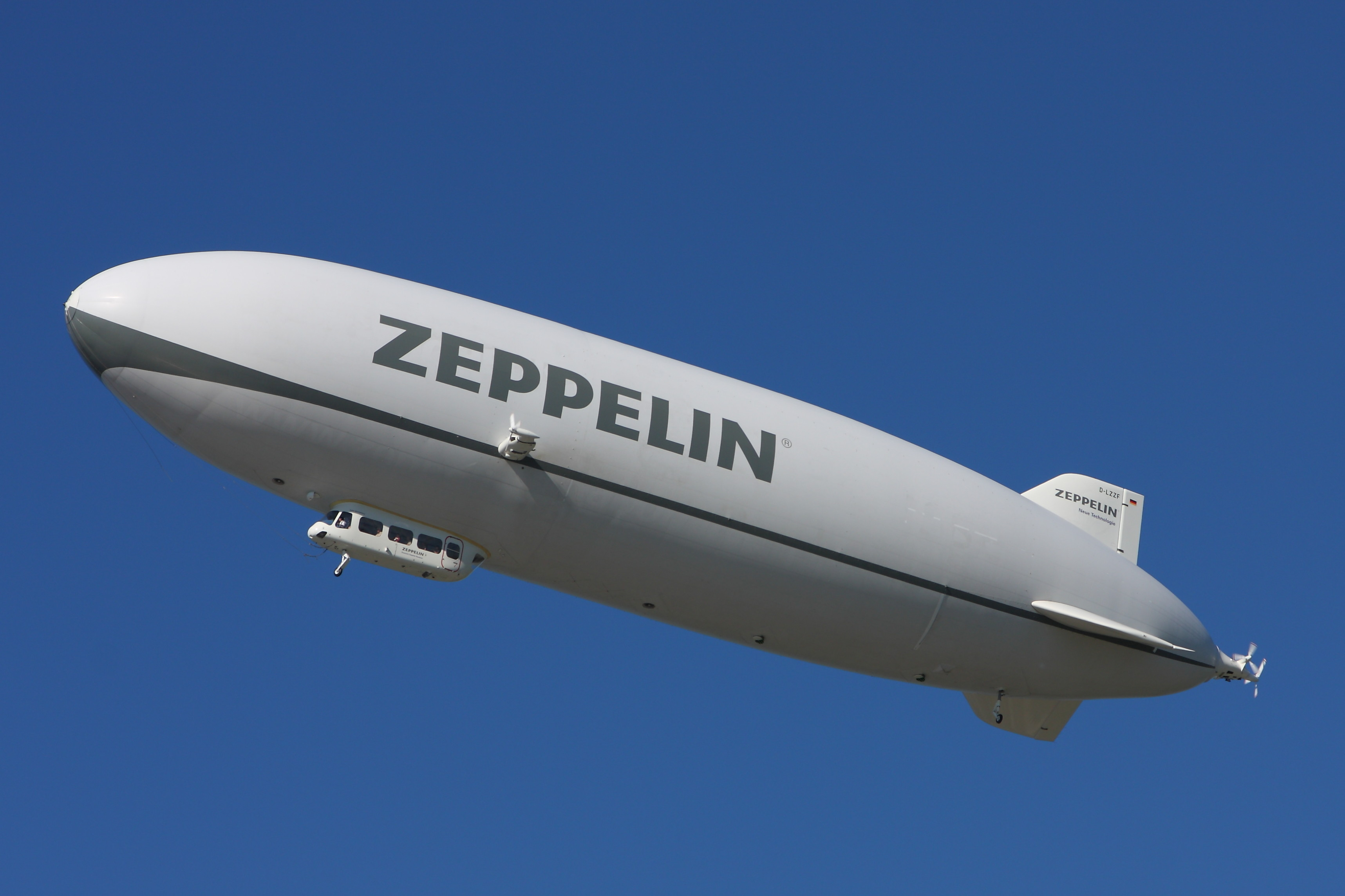 A modern airship, the Zeppelin NT D-LZZF, in 2010.