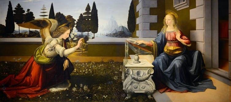 Leonardo da Vinci's The Annunciation (1472).