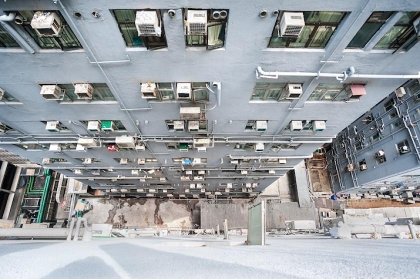 Un immeuble à Hong Kong.