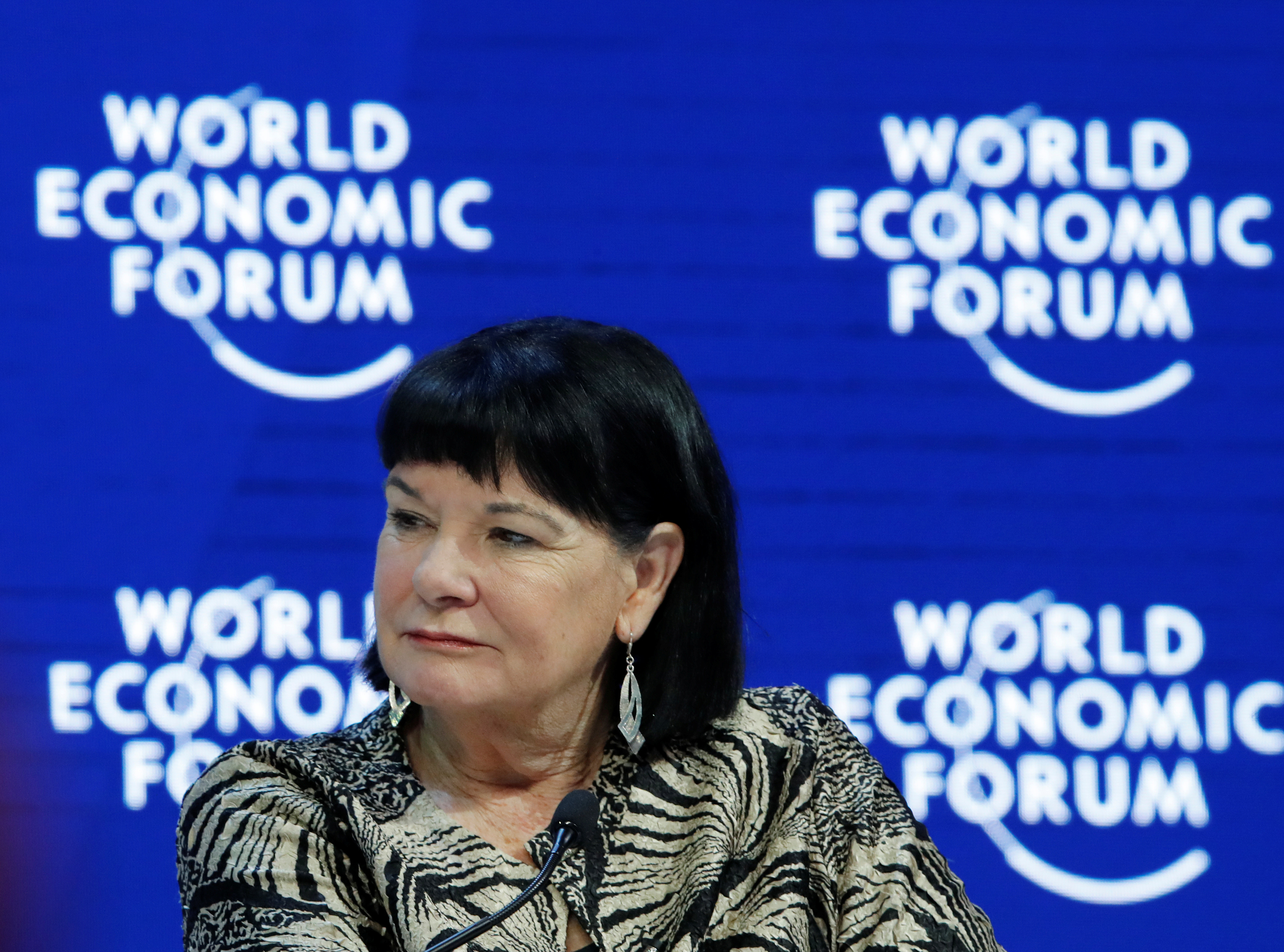 Sharan Burrow General Secretary of the International Trade Union Confederation (ITUC) attends the session