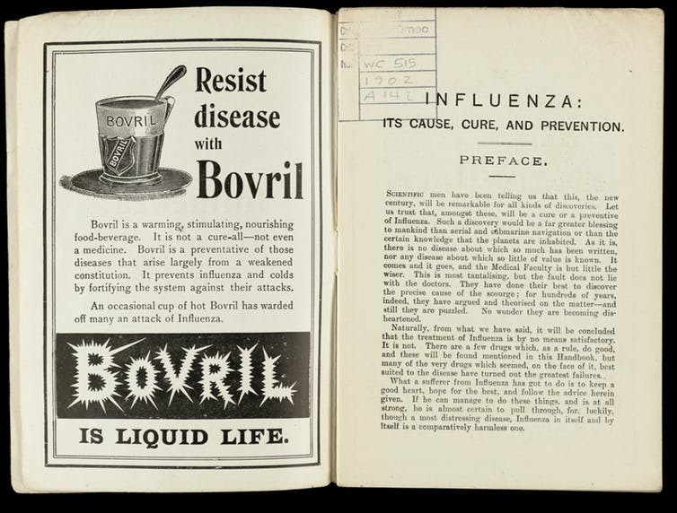 An advert for Bovril, 1902.