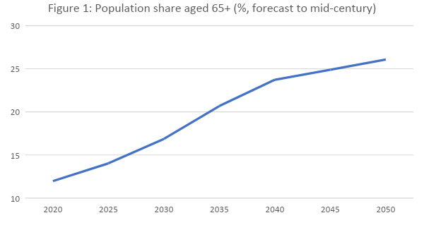 China's ageing population.