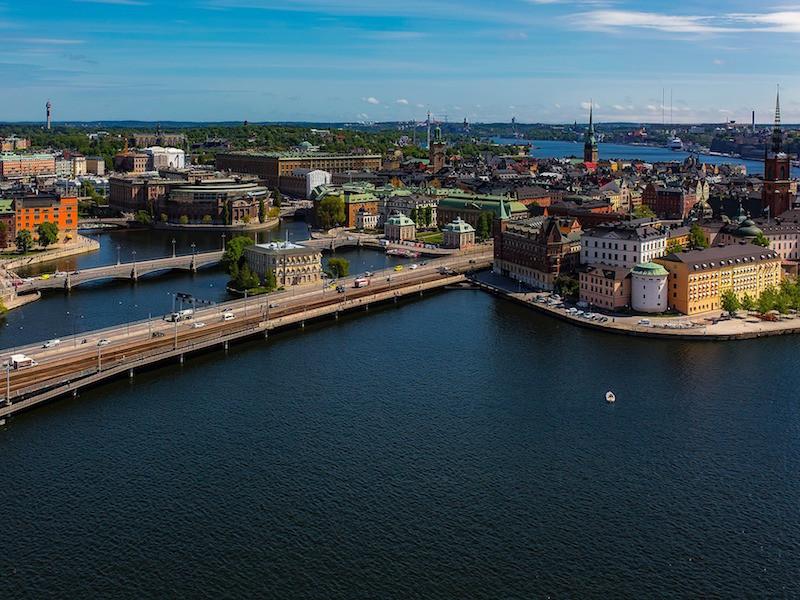 La capitale Stockholm.