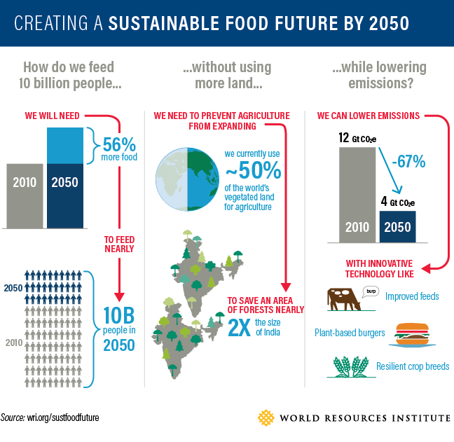 Sustainable food resources population world resource institute
