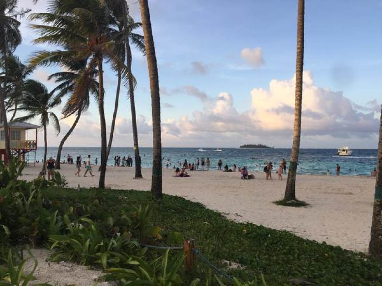 A beach in the island of San Andres, Colombia, October 23, 2018