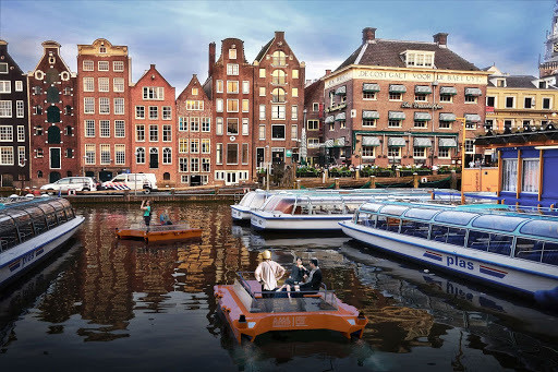 In the future, Amsterdammers might take a ride to work on a robotic boat.