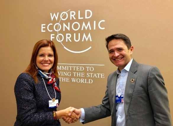 Mercedes Araoz ,Peruvian Vice President and Justin Adams, Director TFA in Davos 2019