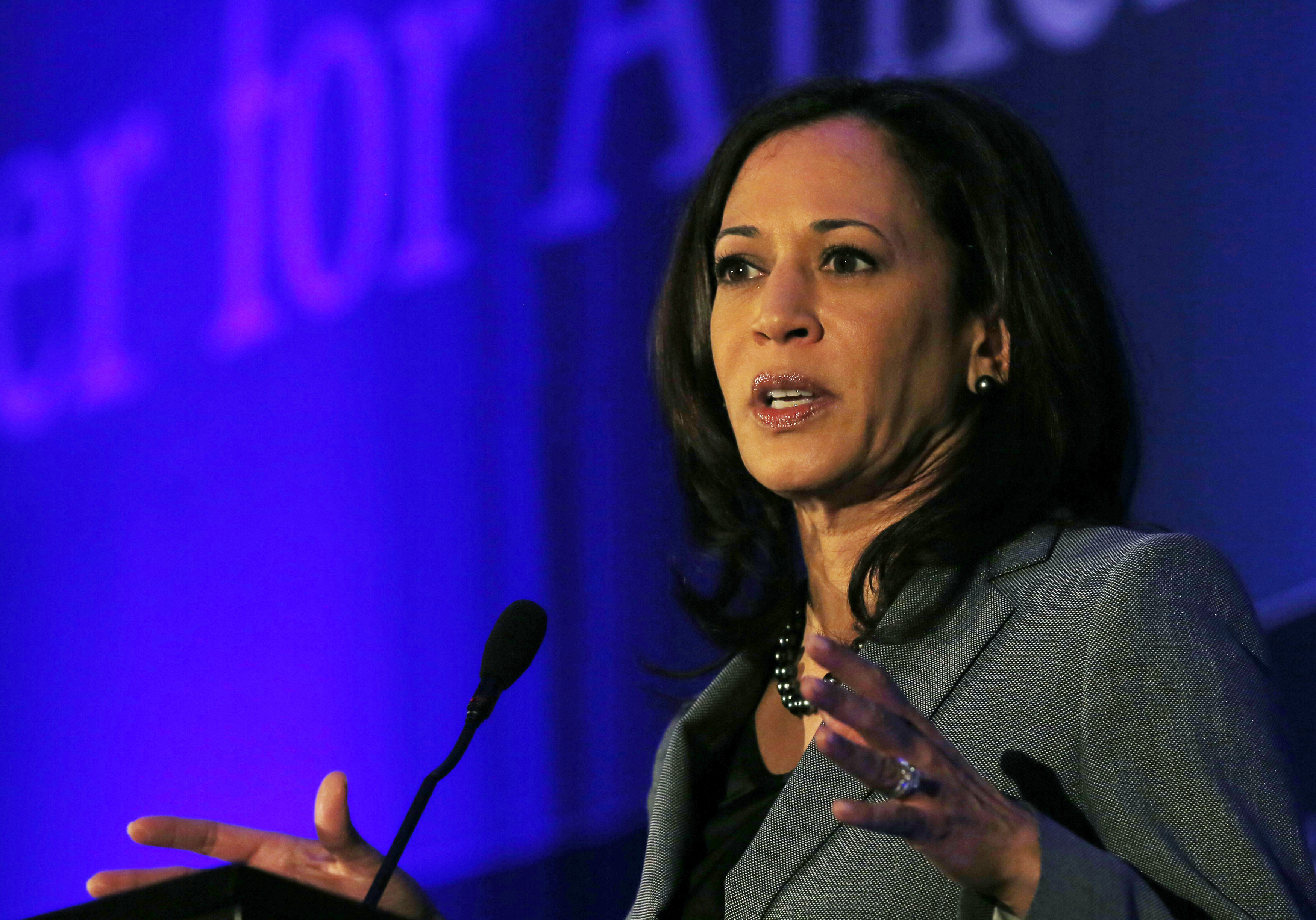 California Attorney General Kamala Harris speaks at the Center for American Progress' 2014 Making Progress Policy Conference in Washington November 19, 2014.