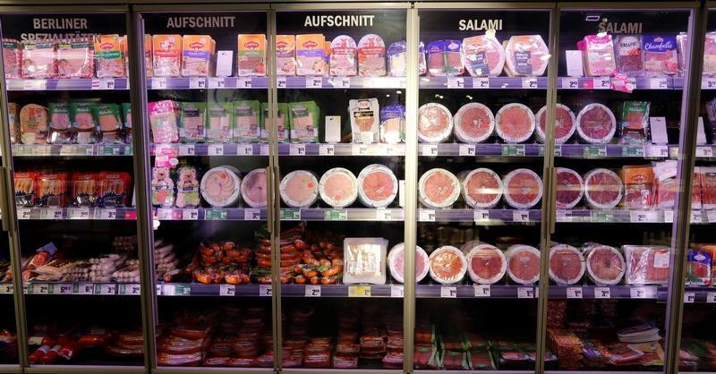 Meat products are pictured in a supermarket in Berlin, Germany, August 8, 2019. REUTERS/Fabrizio Bensch - RC1E10FA3C80