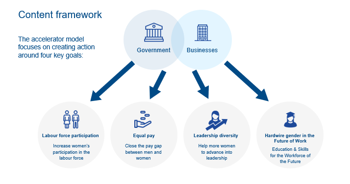 content framework government leadership diversity businesses labour force equity gender parity
