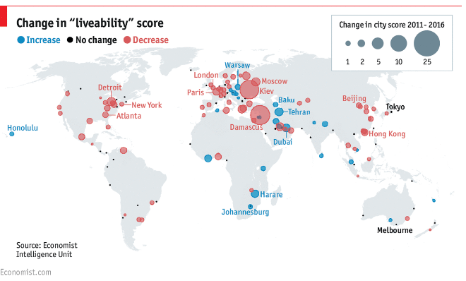 Most liveable cities in the world