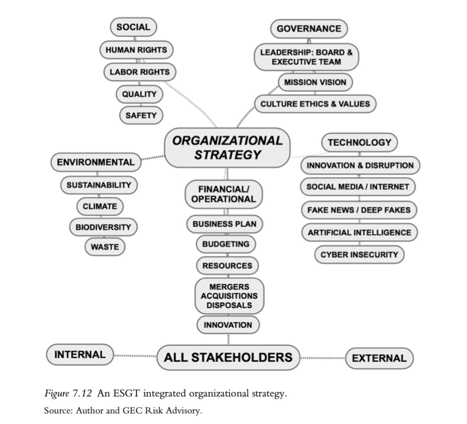 An integrated ESGT strategy for organizations