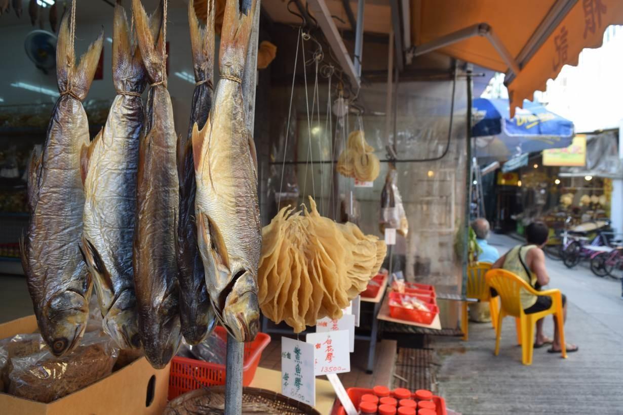 Dried fish sold in Tai O village in Hong Kong, China September 18, 2018.