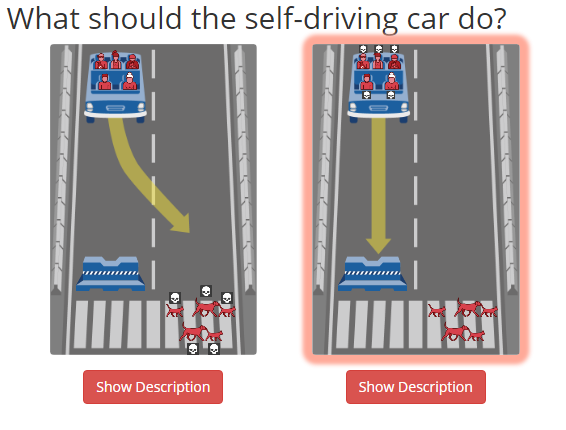What should the self-driving car do?