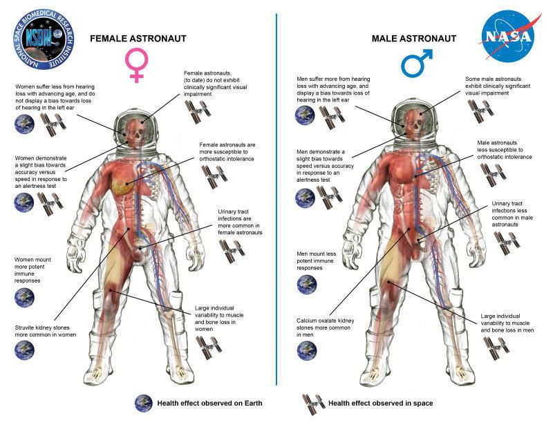Comparison of symptoms between genders.