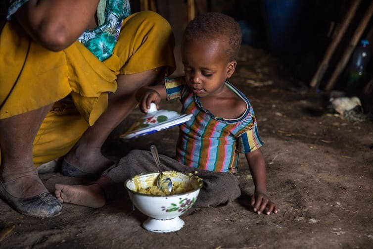 Ethiopia, 2016. Providing higher-quality food is not the only way to help malnourished children.