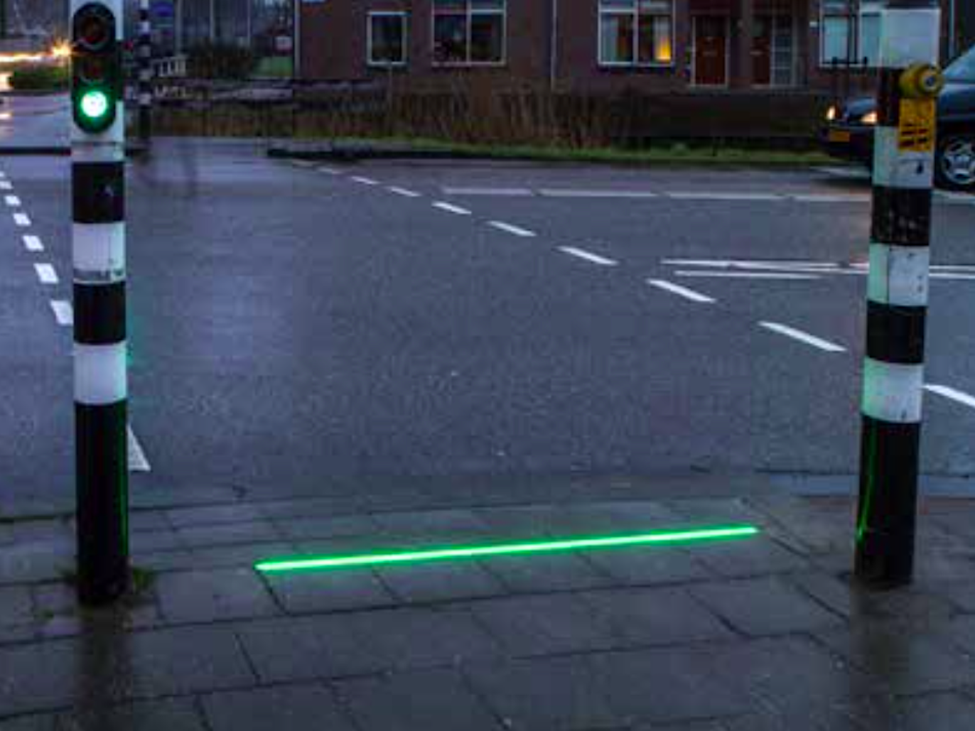 This Dutch Town Has Traffic Lights On The Ground Because