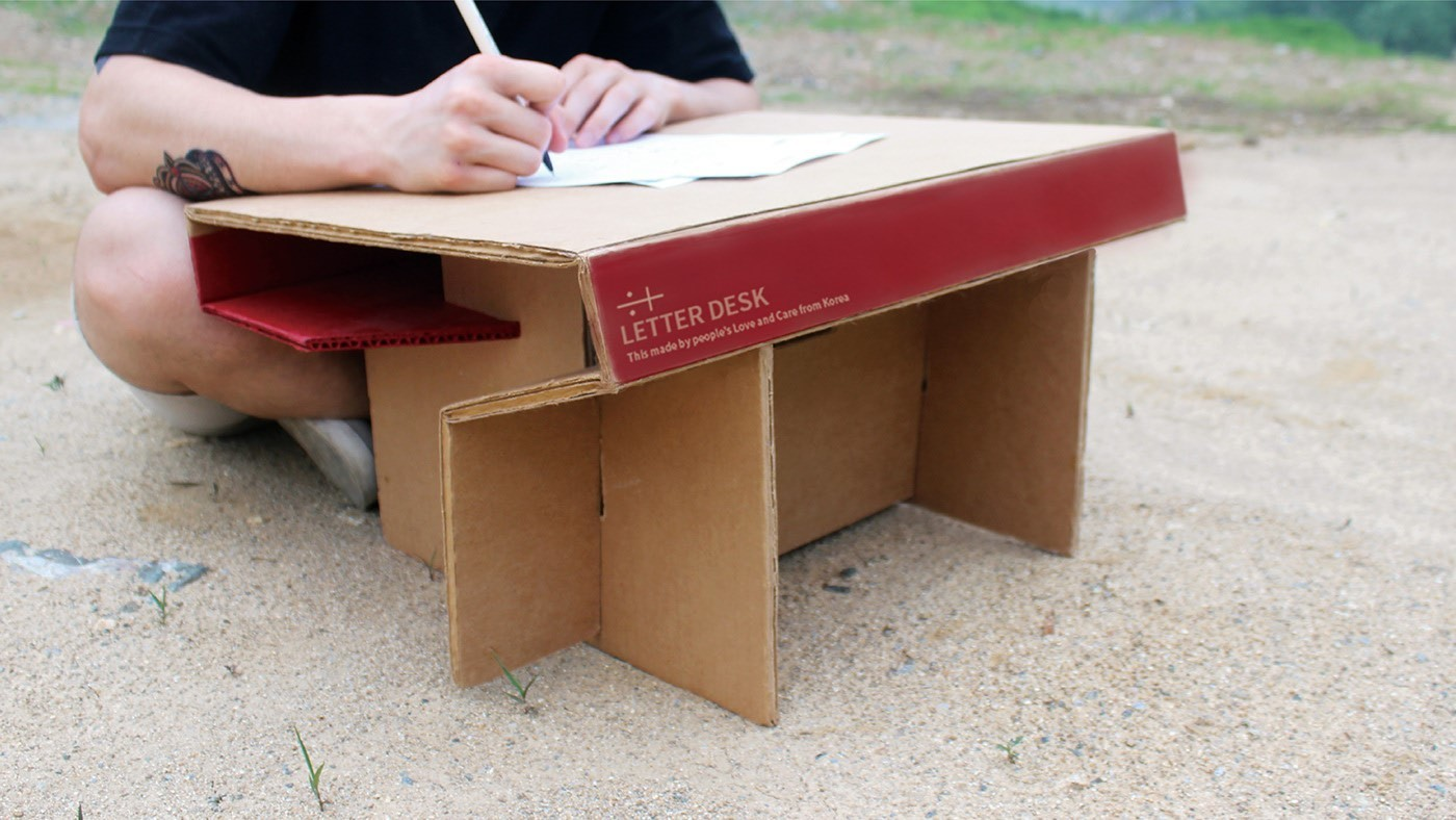The Letter Desk makes life easier for children in developing countries without proper school facilities.