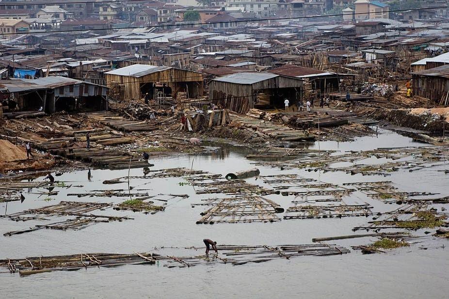 The infamous Makoko slum in Lagos, Nigeria.