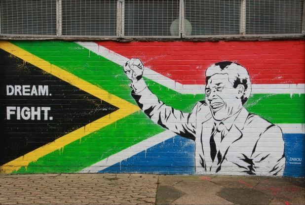 A tribute to Nelson Mandela in London South Africa