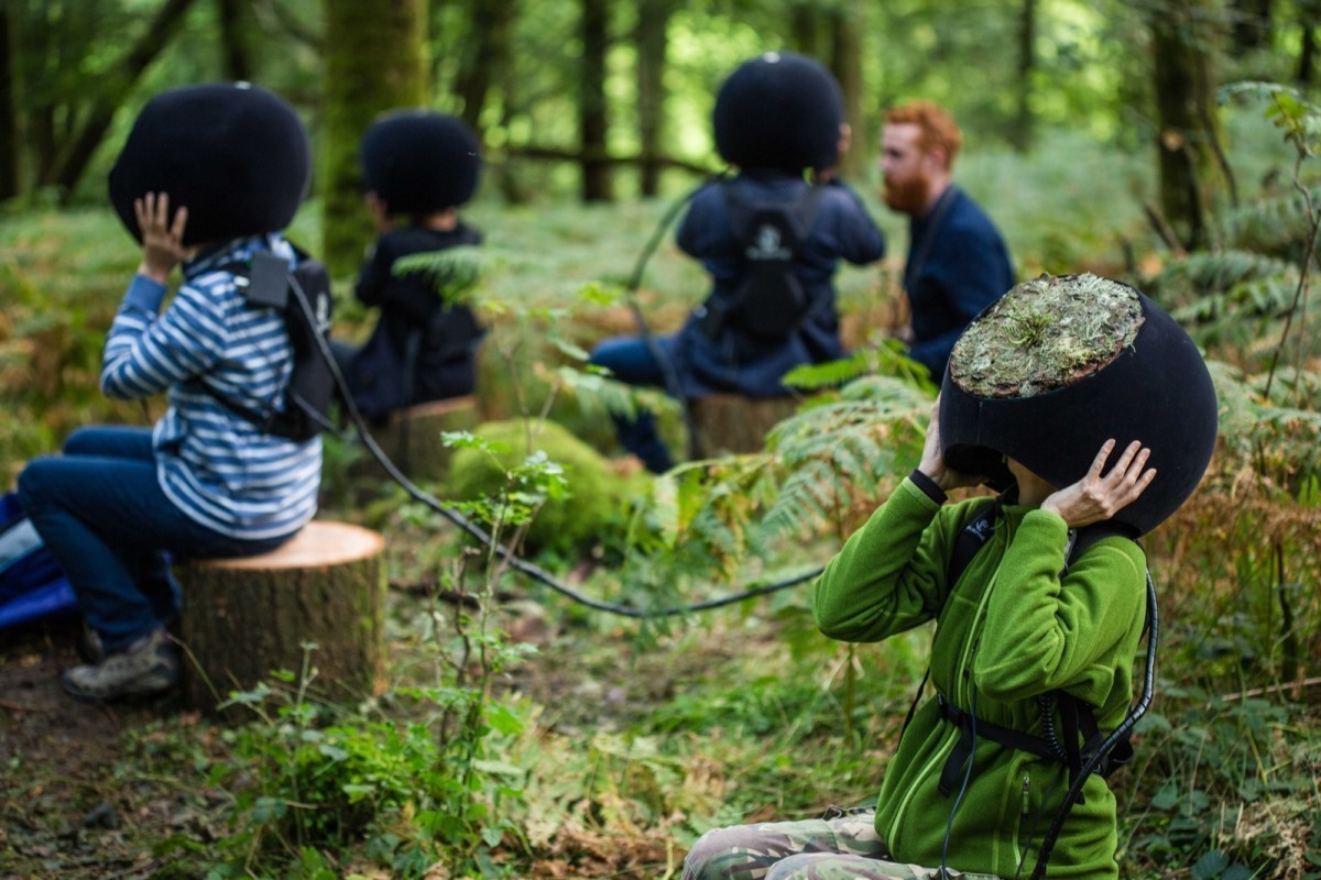 The VR headsets used in the project further represent the goal of reconnecting with nature.