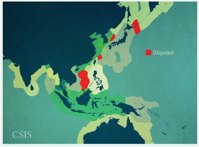 South China Sea Exclusive Economic Zones