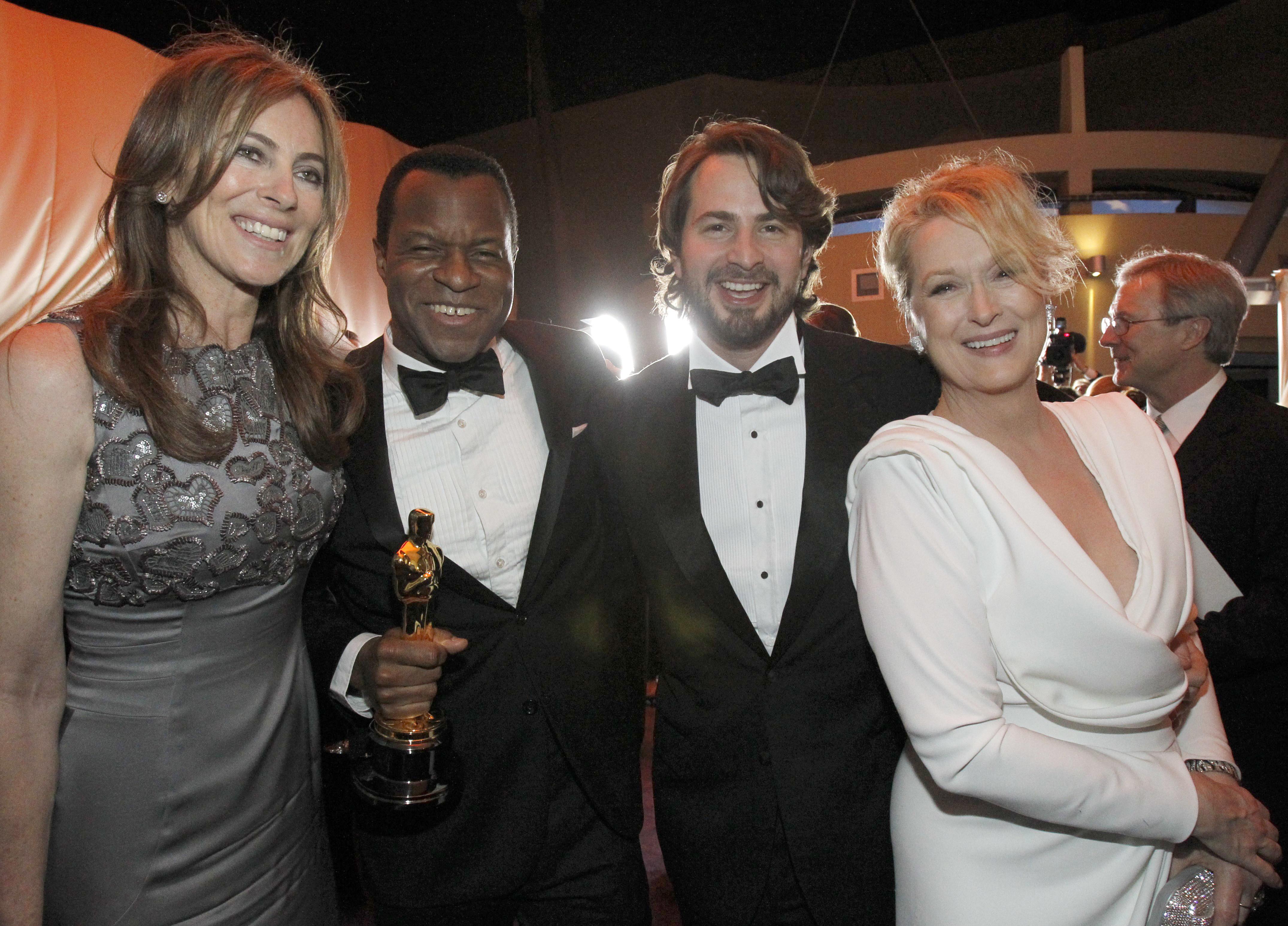 Oscar winners, director Katheryn Bigelow (L) for the film