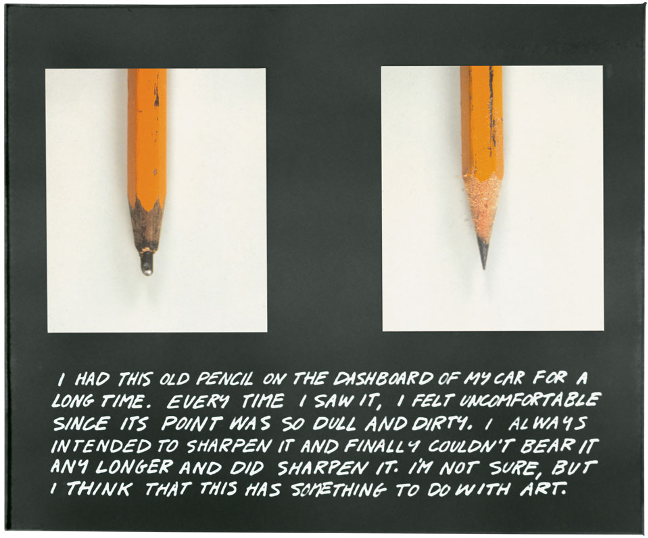 John Baldessari, The Pencil Story (1972–3)