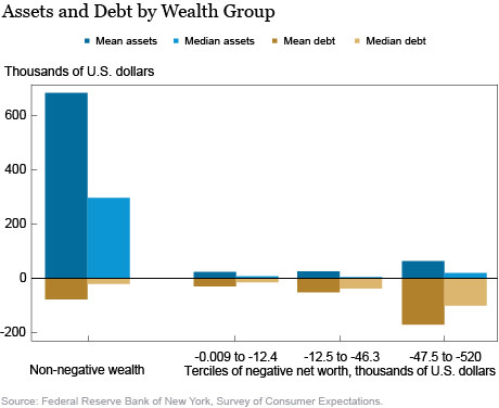Assets and debts by wealth group