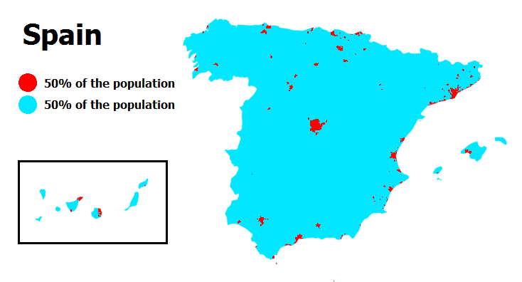 Spain's population mapped