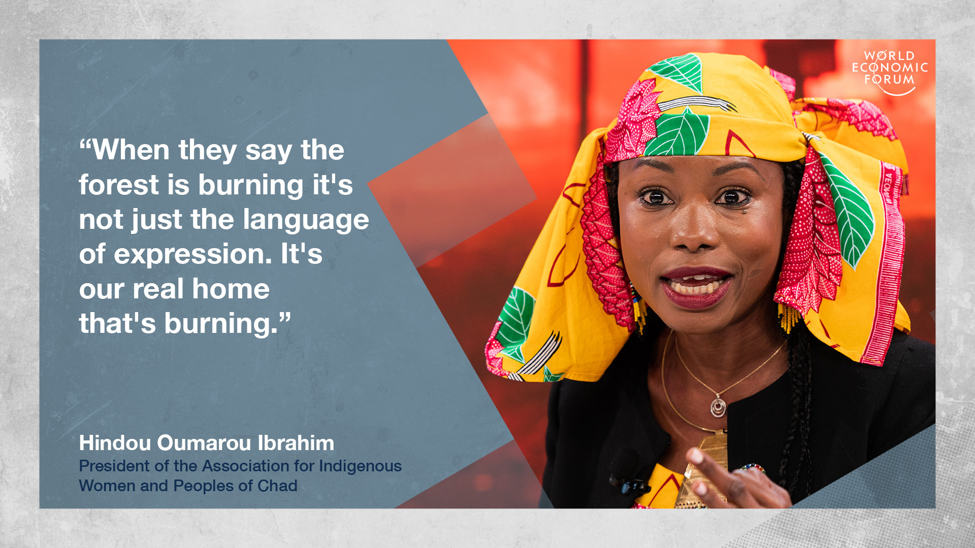 Hindou Oumarou Ibrahim to Davos on climate change impact on the lives of indigenous people
