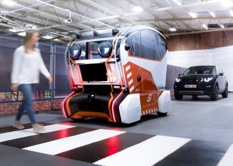 Jaguar Land Rover's cars have eyes to make pedestrians feel safer.