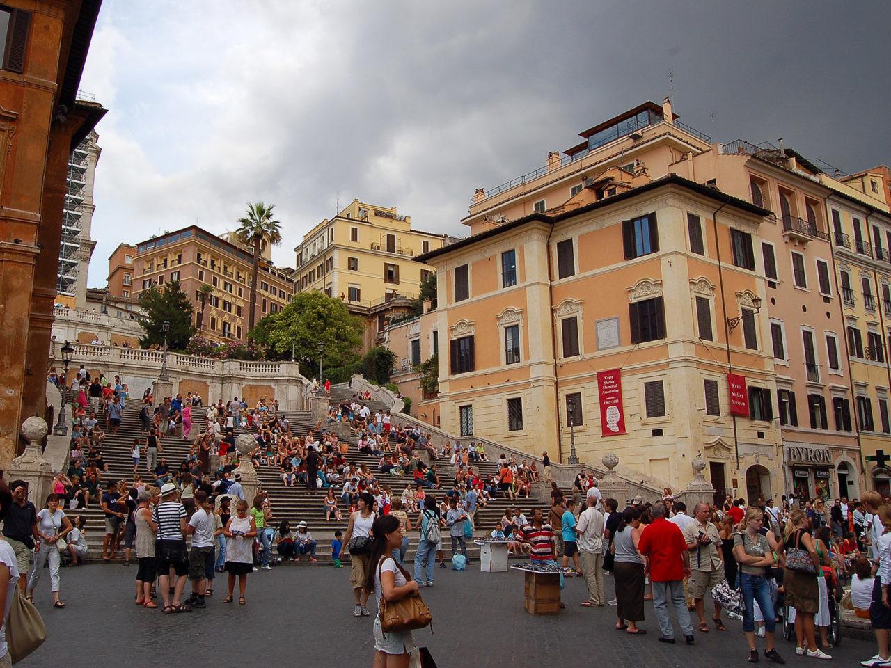 La place d'Espagne, à Rome.