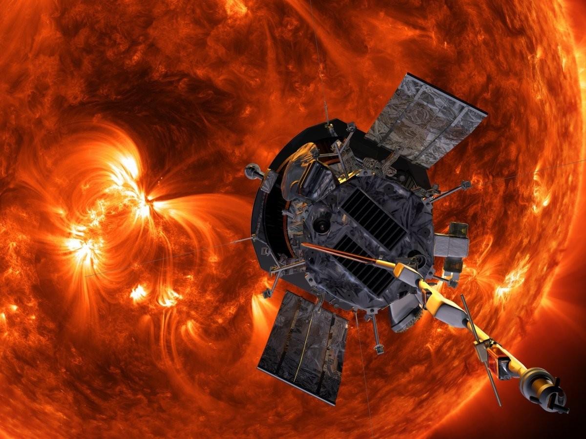 An artist's concept of NASA's Parker Solar Probe.